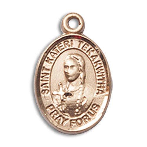 St Kateri Tekakwitha Charm 14kt Gold