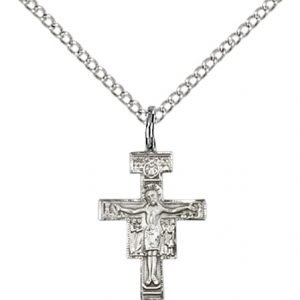Sterling Silver San Damiano Crucifix Necklace #88118
