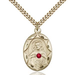 Scapular Pendant - July Birthstone - Gold Filled #88396