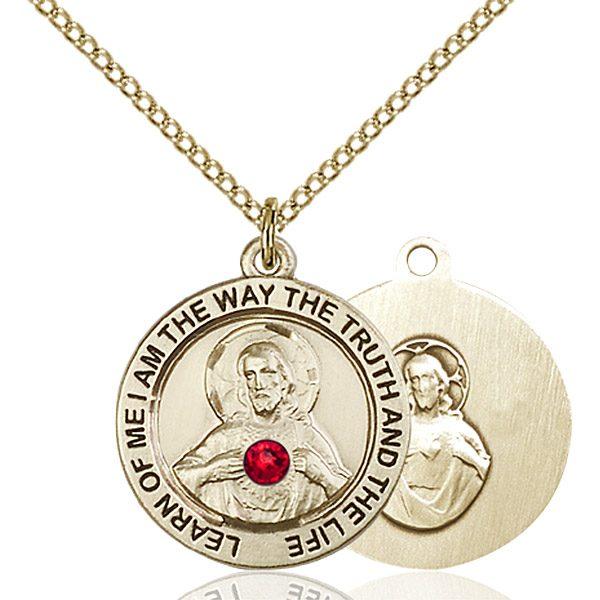Scapular Pendant - July Birthstone - Gold Filled #88780