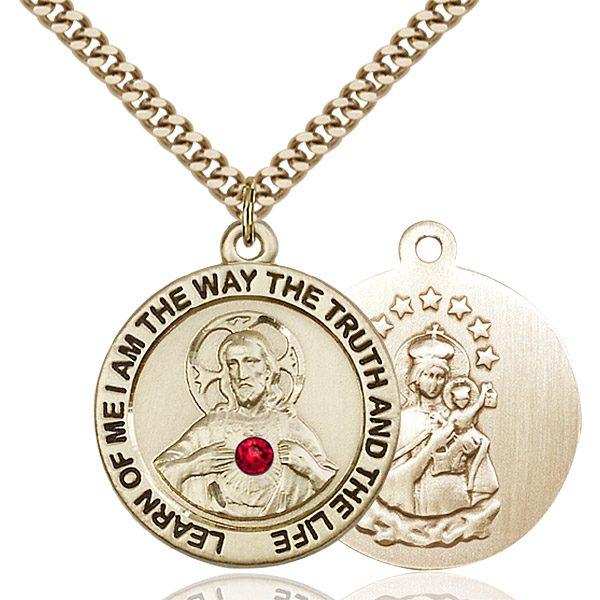Scapular Pendant - July Birthstone - Gold Filled #88783