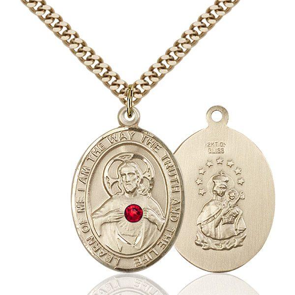 Scapular Pendant - July Birthstone - Gold Filled #89659