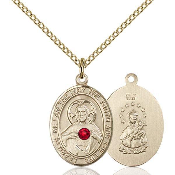 Scapular Pendant - July Birthstone - Gold Filled #89665