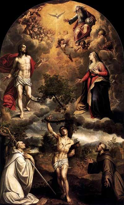 Saint Sebastian Glimpsing The Trinity