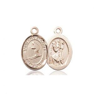 14kt Gold St. Christopher / Skiing Medal