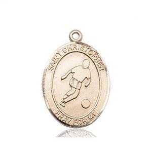 14kt Gold St. Christopher/Soccer Medal