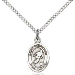 Sterling Silver St. Sebastian Pendant