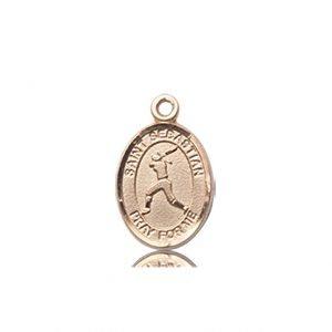 14kt Gold St. Sebastian / Softball Medal