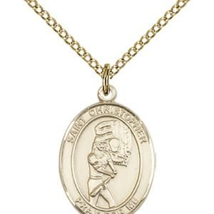 Gold Filled St. Christopher/Softball Pendant