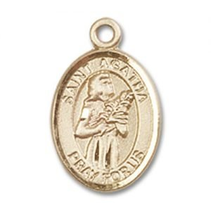St. Agatha Charm - 14 Karat Gold Filled (#84461)