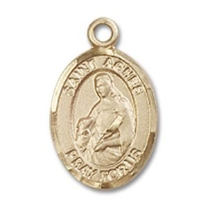 St. Agnes of Rome Charm - 14 Karat Gold Filled (#84820)