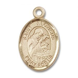 St. Aloysius Gonzaga Charm - 14 Karat Gold Filled (#85069)