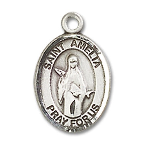 St. Amelia Charm - Sterling Silver (#85270)