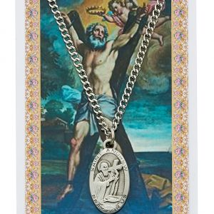 St Andrew Pendant and Prayer Card Set
