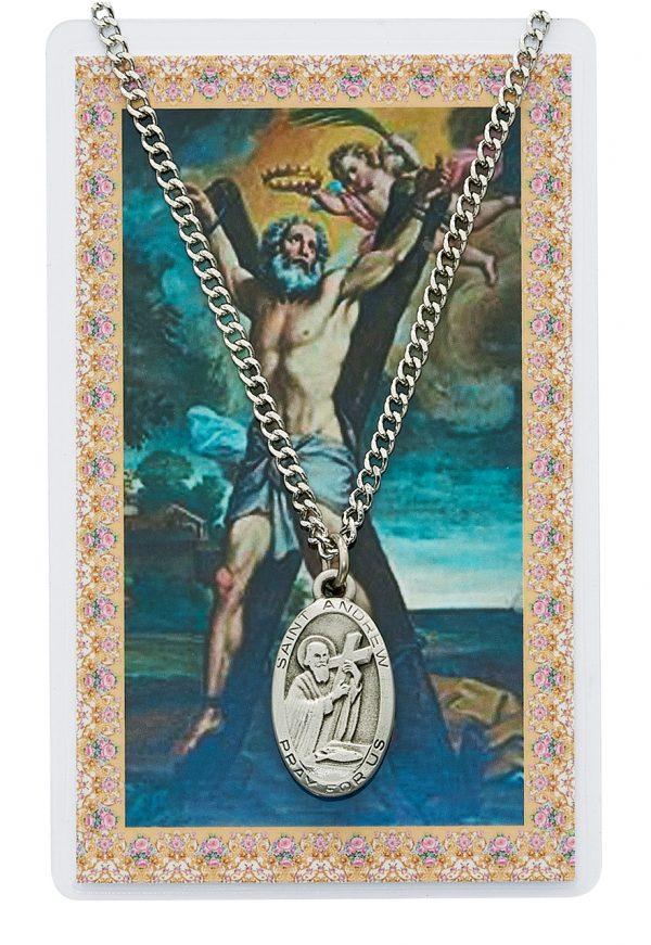 St Andrew Pendant and Prayer Card Set