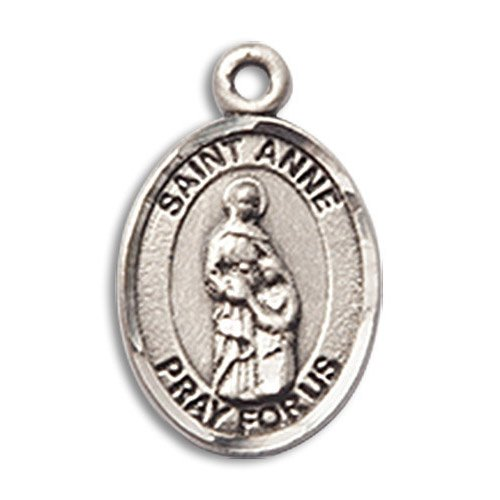 St. Anne Charm - Sterling Silver (#M0063) 	Preview Product on Storefront