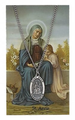 Saint Anne Holy Card and Medal