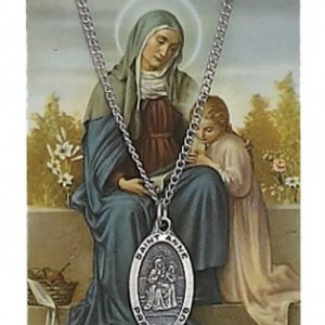 St. Anne Pendant and Prayer Card Set