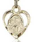 St. Anthony of Padua Charm - 14 Karat Gold Filled  (#85516)