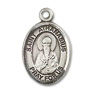 St. Athanasius Charm - Sterling Silver (#85228)