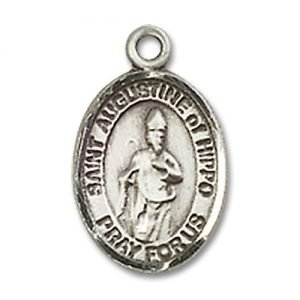 St. Augustine of Hippo Charm - Sterling Silver (#85017)