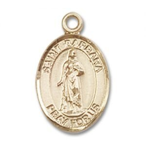 St. Barbara Charm - 14 Karat Gold Filled (#84469)