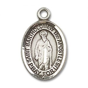 St. Bartholomew the Apostle Charm - Sterling Silver (#85095)