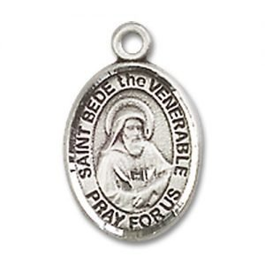 St. Bede the Venerable Charm - Sterling Silver (#85243)
