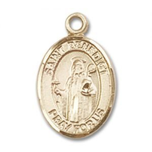 St. Benedict Charm - 14 Karat Gold Filled (#84475)