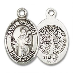 St. Benedict Charm - Sterling Silver (#M0066)