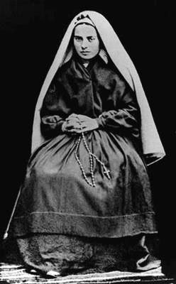 St. Bernadette in her habit