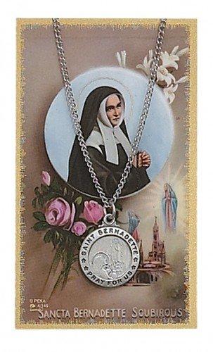 St. Bernadette Pendant and Prayer Card Set