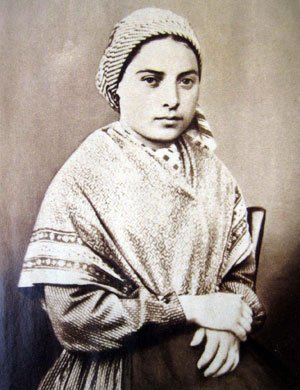Image of a Young St. Bernadette