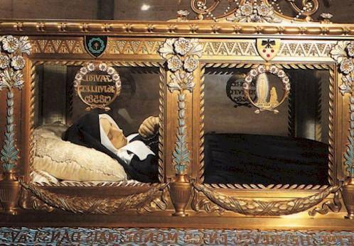 St. Bernadette in casket