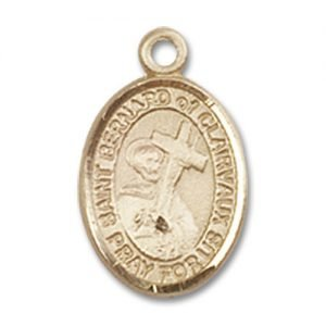 St. Bernard of Clairvaux Charm - 14 Karat Gold Filled (#85087)