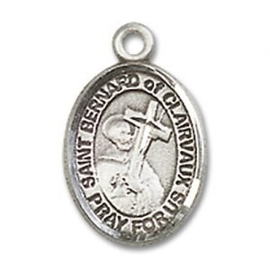 St. Bernard of Clairvaux Charm - Sterling Silver (#85089)