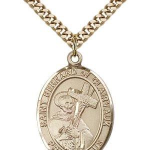 St. Bernard of Clairvaux Medal - 82526 Saint Medal