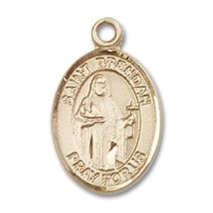 St. Brendan the Navigator Charm - 14 Karat Gold Filled (#84505)