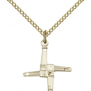 Gold Filled St. Brigid Cross Necklace #87021