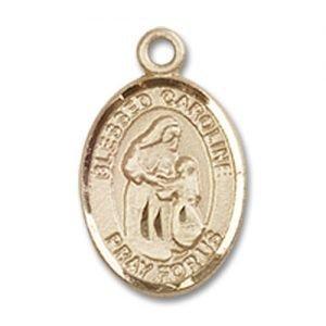 Blessed Caroline Gerhardinger Charm - 14 Karat Gold Filled (#85194)