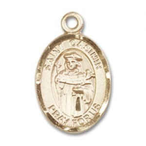 Made in USA Jewels Obsession St Casimir of Poland Pendant Gold Filled St Casimir of Poland Pendant 18 Chain