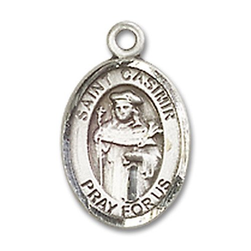 St. Casimir of Poland Charm - Sterling Silver (#84786)