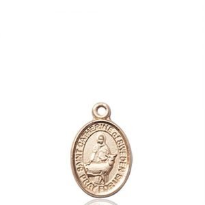 St. Catherine of Sweden Charm - 14 KT Gold (#85338)
