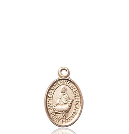 St. Catherine of Sweden Charm - 14 KT Gold (#85338)