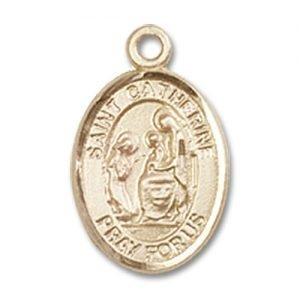 St. Catherine of Siena Charm - 14 Karat Gold Filled (#M0058)