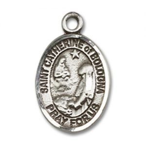 St. Catherine of Bologna Charm - Sterling Silver (#M0010)