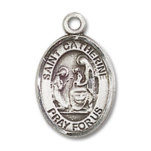 St. Catherine of Siena Charm - Sterling Silver (#M0014)