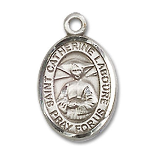 St. Catherine Laboure Charm - Sterling Silver (#M0064)