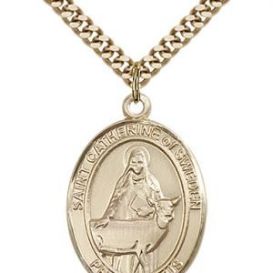 St. Catherine of Sweden Medal - 82778 Saint Medal