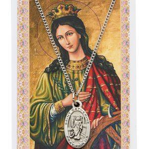 St Catherine of Alexandria Pendant and Prayer Card Set